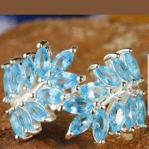Jewelry - New Blue topaz ring size 10